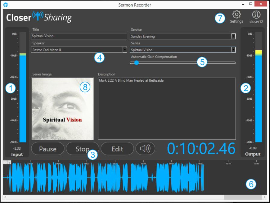 recordercontrols closer sharing sermon recording in the cloud